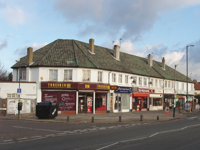 Shops in Nelson Road, Whitton