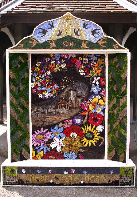 Well-dressing at Asford-in-the-Water