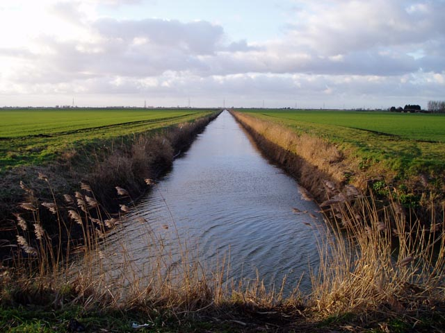 Drainage channel across Burnt Fen