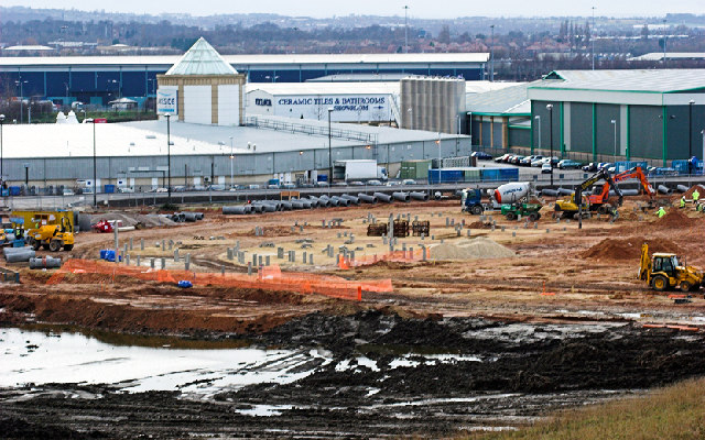 Doncaster Lakeside Sports Complex. Under construction.