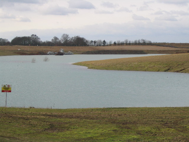 Lake made from gravel pit