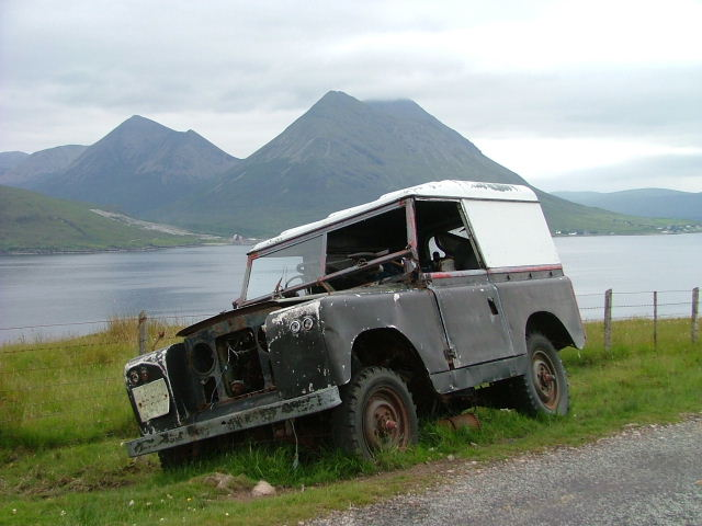 Abandoned Land Rover on Raasay
