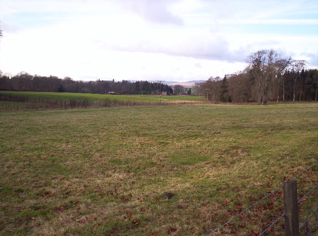 Fields, Woodland and Balnamoon Farm in the Background