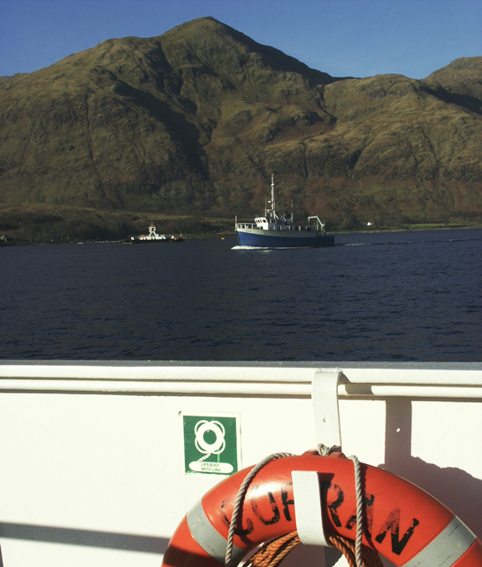View northwest across the Corran Narrows from the Corran Ferry