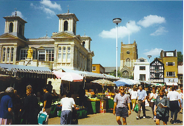 Market Hall and Market Place, Kingston-upon-Thames.