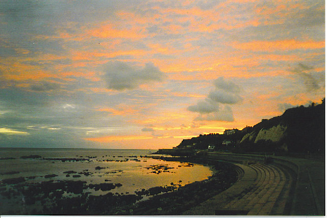 Sunset at Bonchurch.