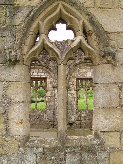 Looking into Wharram Percy Church from North-East
