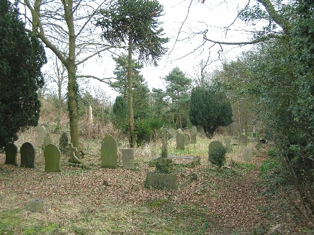 Graveyard of Handley Church, Middle Handley, Nr Eckington in NE Derbyshire.