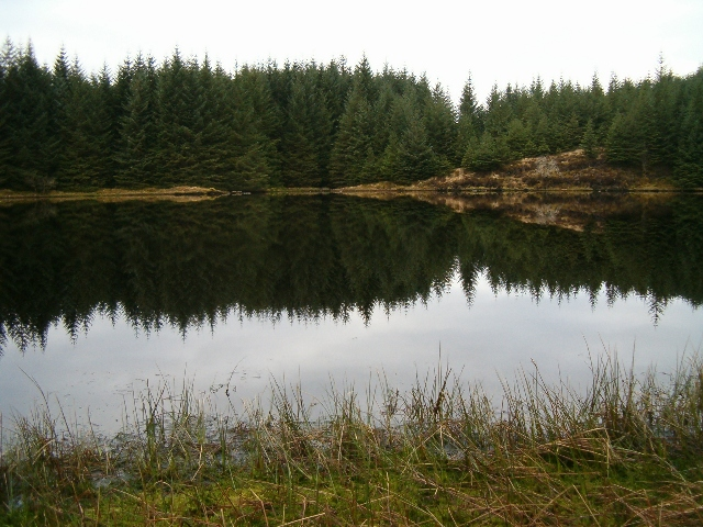 Lochan Dubh from the east bank