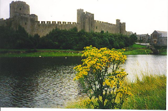 Pembroke Castle from the North.