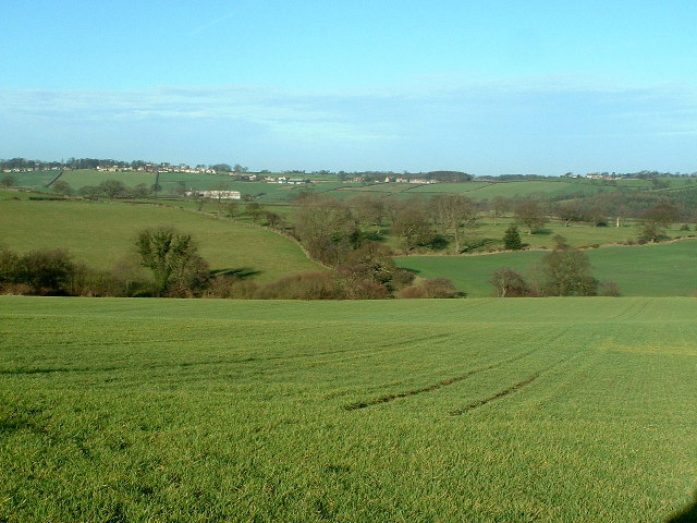 The view northwards from Ash Lane