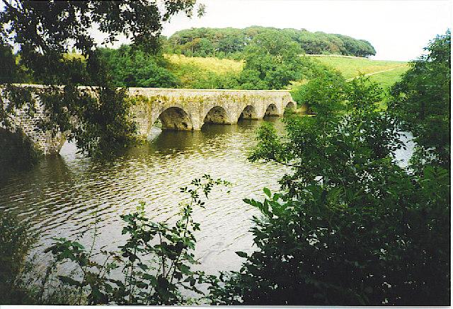 The upper bridge at Bosherston Ponds.