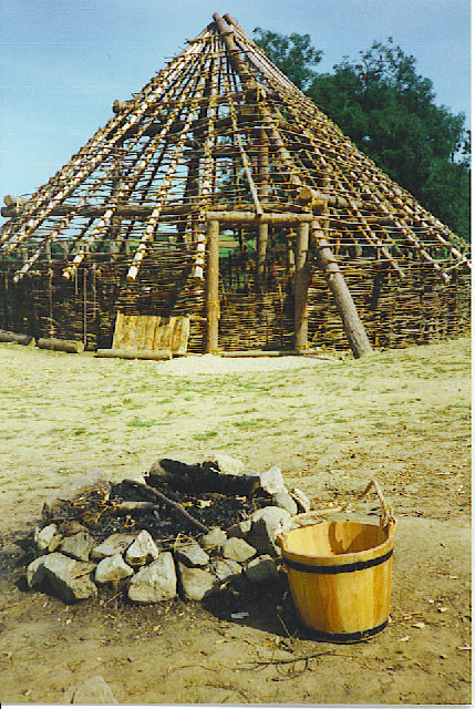 Partial Reconstruction of Pictish Hut, Archeolink.
