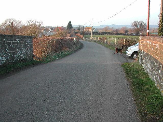 Kenn Moor Gate looking North West from railway bridge