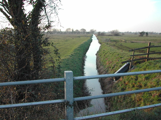 Rhyne at Kenn Moor Gate looking North West