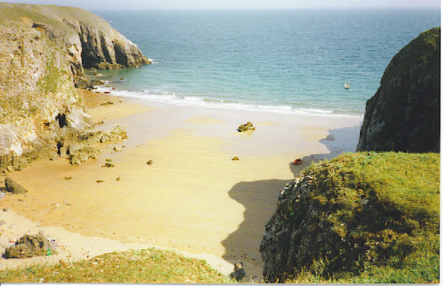 Sandy bay by Stackpole Warren.