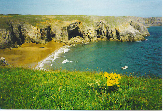 Sea Caves by Stackpole Warren.
