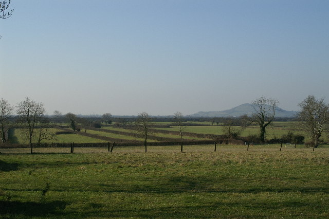 Fields with Brent Knoll in the background