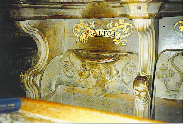 Misericord in St David's Cathedral.