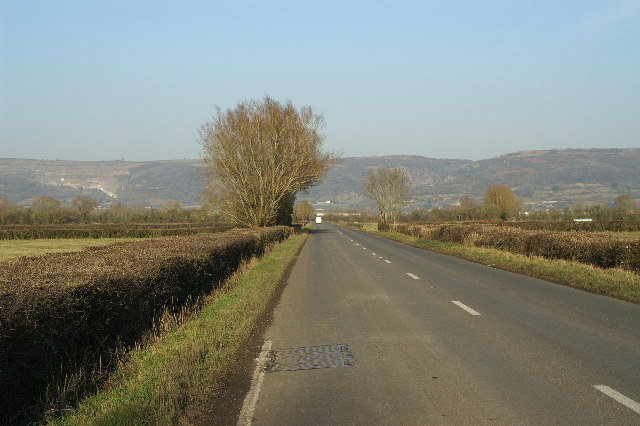 B3151 between Clewer and Hythe on Cheddar Moor