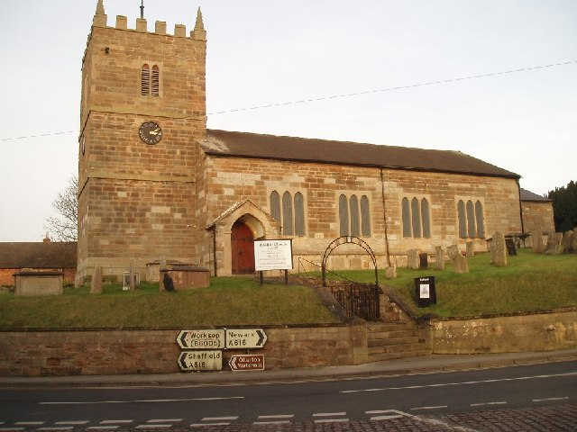 St Giles Church Ollerton Village