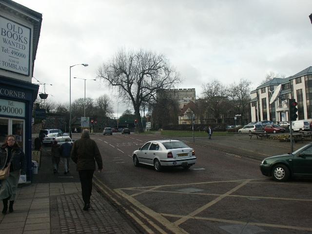 Norwich Castle from Rose Lane