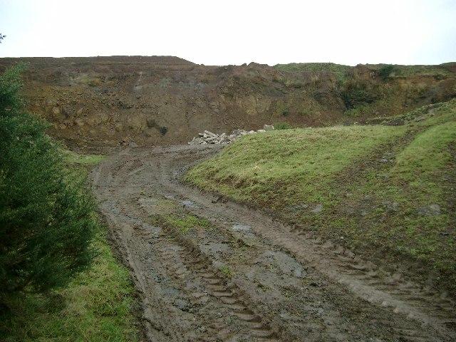 Small quarry near Cronan