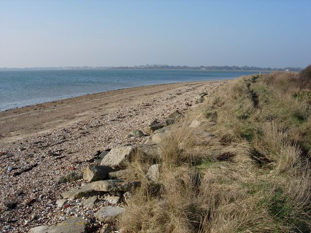 Beach and Sea Wall, Thorney Island