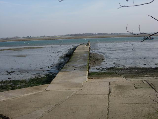 Slipway across mudflats