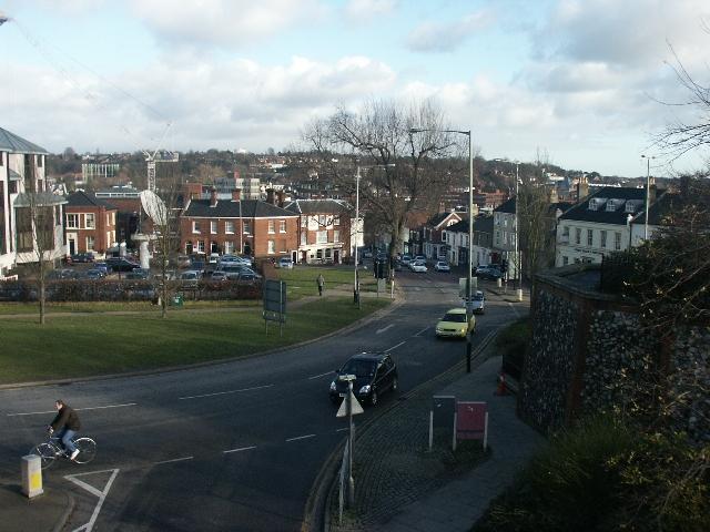 Rose Lane from Norwich Castle Gardens