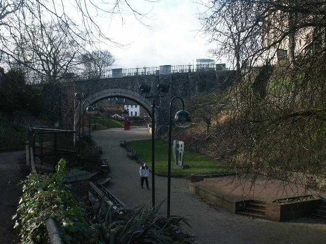 Castle gardens, Norwich