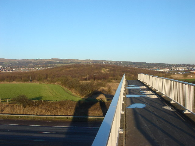 Red Moss from footbridge over M61 motorway