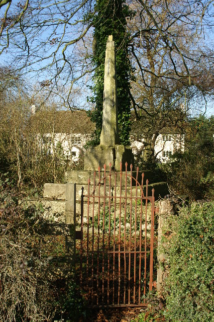 Remains of the Cross at Stoughton