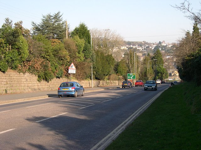 Approaching St Austell on the Truro Road