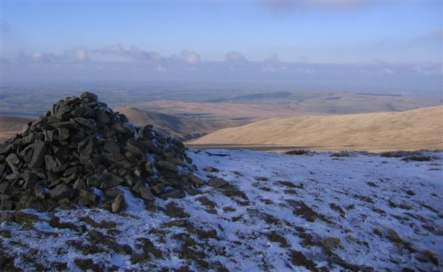 The cairn and the view.