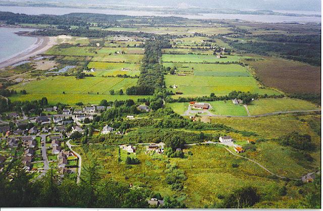 Benderloch and Kiel Crofts from the Ben Lora hill path.