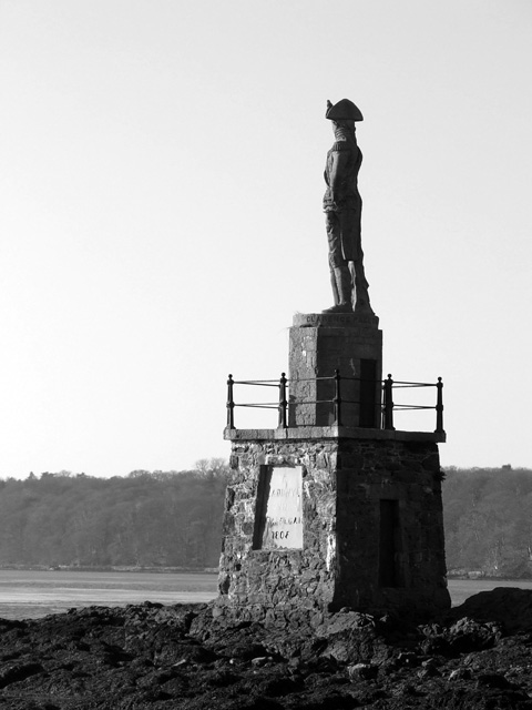 Lord Nelson's Statue on banks on Menai Straits