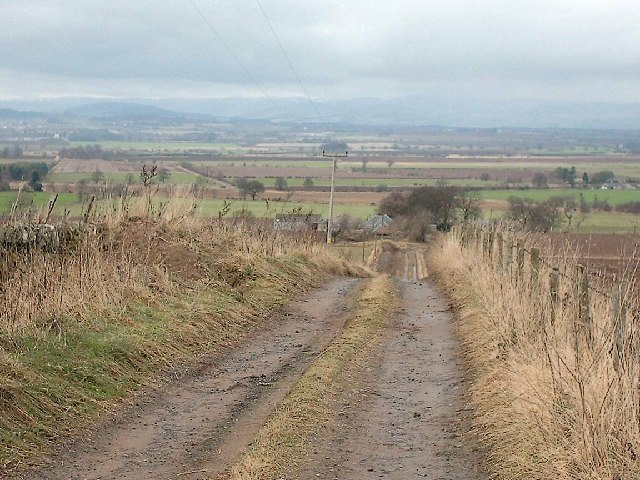 Track to Nether Hayston Farm near Glamis