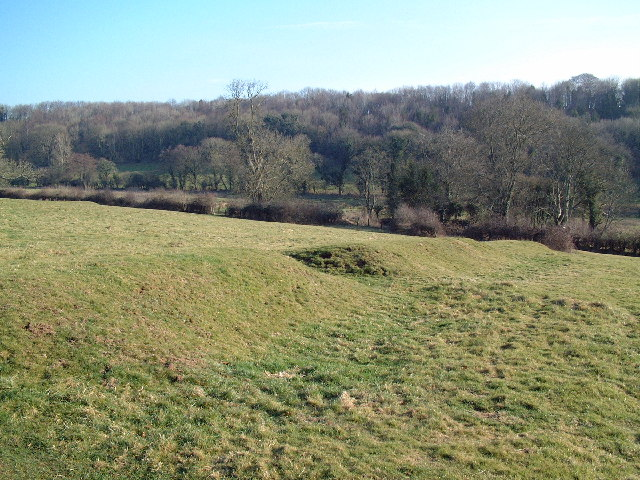 Earth mounds near Dewlish