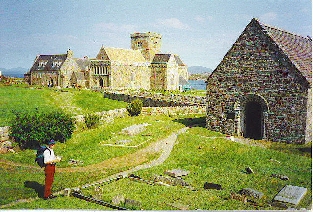 Iona Abbey and St Oran's Chapel.