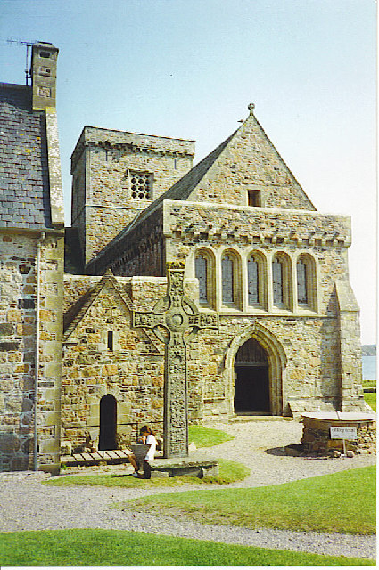 Iona Abbey, Entrance and St John's Cross.