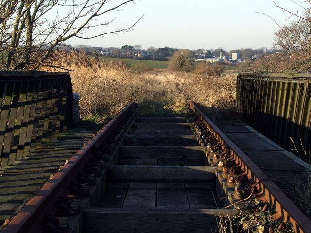 Railway lines on disused Bridge