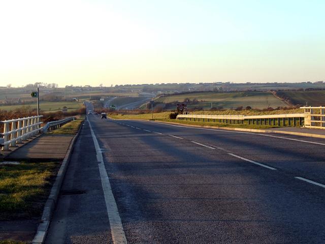 A5 road looking towards the Llangefni interchange