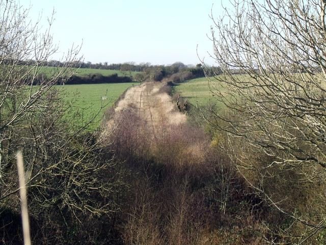 Disused Amlwch branch line near Pentre Berw