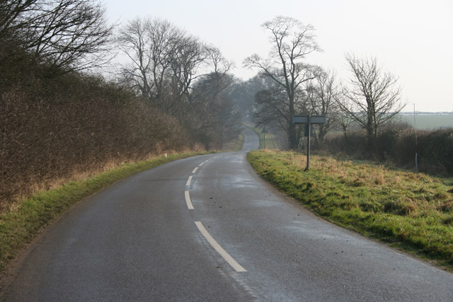 Road from Hungerton to Great Ponton, Lincolnshire