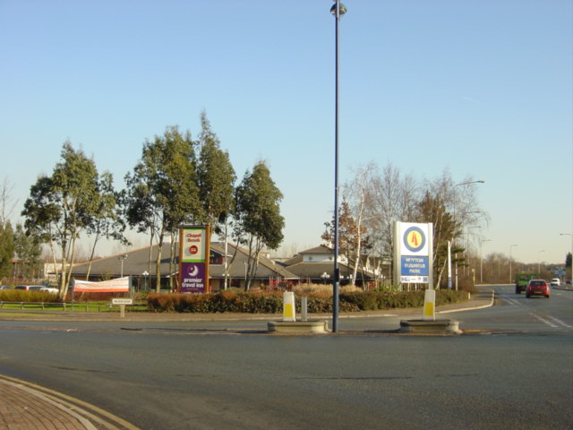 Chapel Brook motel and access to Huyton Industrial Estate