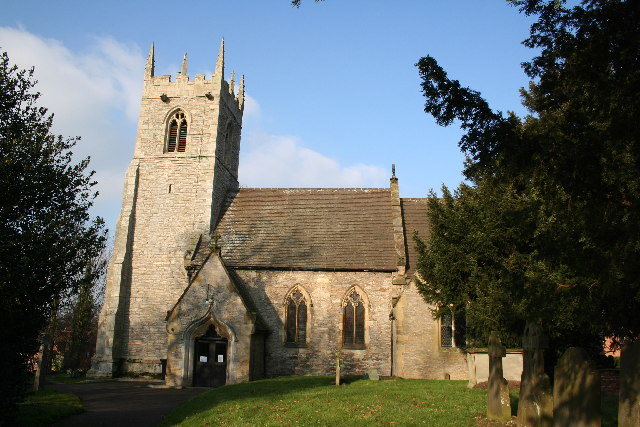 St.Helen's church, Lea, Lincs.