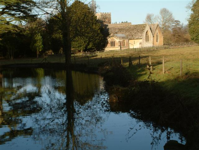 Lockinge Church, from Betterton Brook Bridge