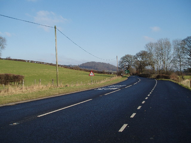 The A494 looking NE towards Druid
