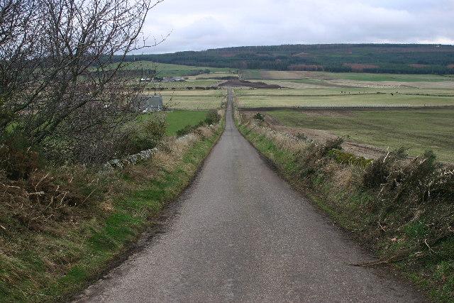 Farmland west of Elgin
